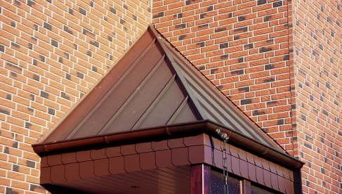 Vordach in Kupfer Stehfalzeindeckung