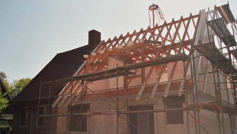 Richtfest des neuen Dachstuhls