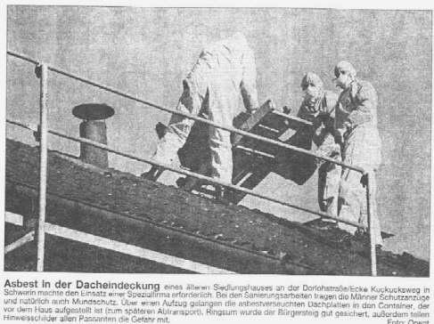 Sanierung von asbesthaltiger Dacheindeckung
